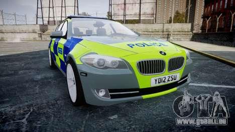 BMW 530d F11 Metropolitan Police [ELS] SEG pour GTA 4