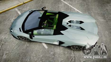 Lamborghini Aventador 50th Anniversary Roadster pour GTA 4 est un droit