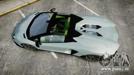 Lamborghini Aventador 50th Anniversary Roadster für GTA 4 rechte Ansicht
