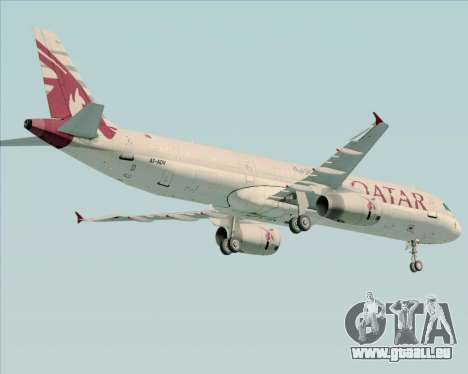 Airbus A321-200 Qatar Airways für GTA San Andreas Rückansicht