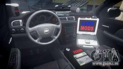 Chevrolet Suburban 2008 Police [ELS] Red & Blue pour GTA 4 Vue arrière