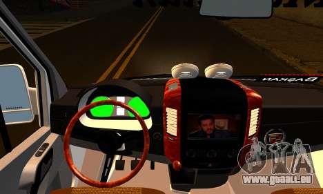 Mercedes-Benz Sprinter Bus Scolaire pour GTA San Andreas sur la vue arrière gauche