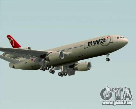 McDonnell Douglas DC-10-30 Northwest Airlines für GTA San Andreas obere Ansicht