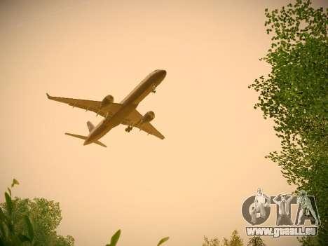 Boeing 757-224 United Airlines pour GTA San Andreas vue de dessous