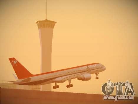 Boeing 757-251 Northwest Airlines für GTA San Andreas obere Ansicht