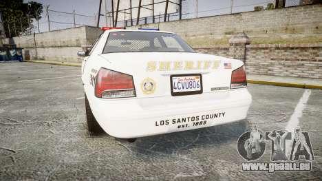 GTA V Vapid Cruiser LSS White [ELS] pour GTA 4 Vue arrière de la gauche