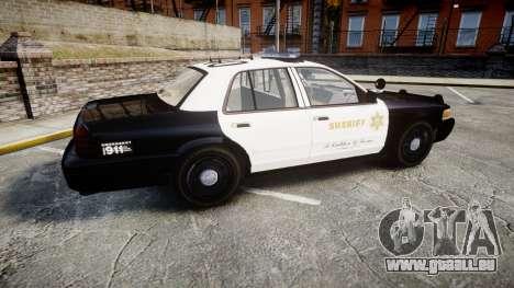 Ford Crown Victoria LASD [ELS] Marked pour GTA 4 est une gauche