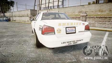 GTA V Vapid Cruiser LSS White [ELS] Slicktop für GTA 4 hinten links Ansicht