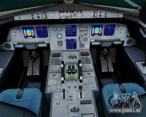 Airbus A321-200 Scandinavian Airlines System für GTA San Andreas Innen