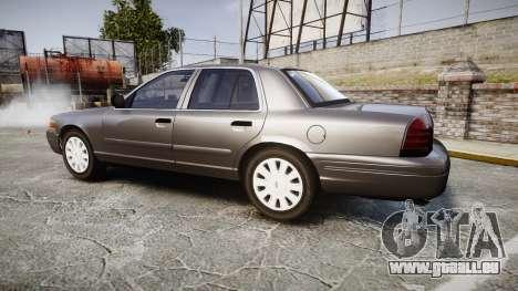 Ford Crown Victoria Unmarked Police [ELS] pour GTA 4 est une gauche