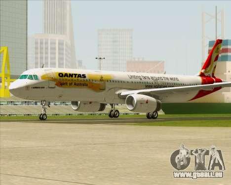 Airbus A321-200 Qantas (Wallabies Livery) pour GTA San Andreas sur la vue arrière gauche
