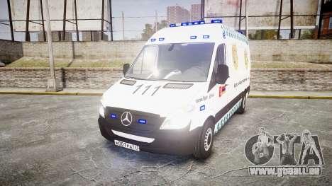 Mercedes-Benz Sprinter ARM Ambulance [ELS] pour GTA 4