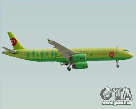 Airbus A321-200 S7 - Siberia Airlines für GTA San Andreas zurück linke Ansicht