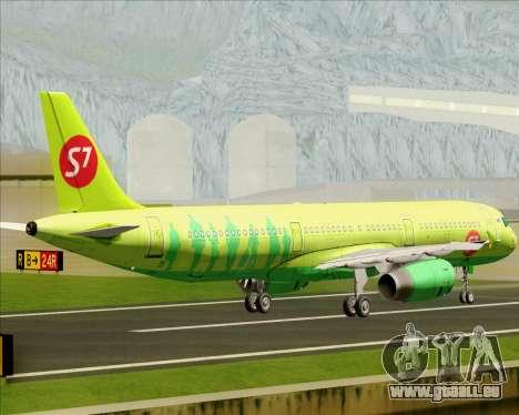 Airbus A321-200 S7 - Siberia Airlines pour GTA San Andreas vue arrière
