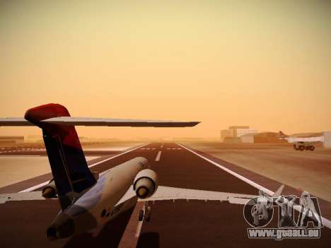 Bombardier CRJ-700 Delta Connection für GTA San Andreas Unteransicht
