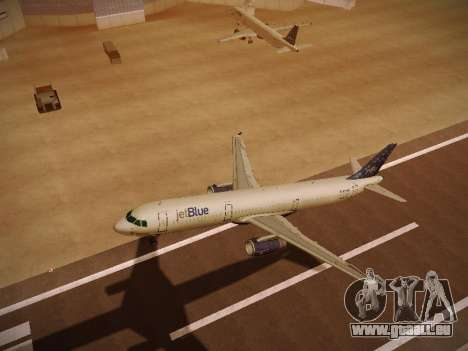 Airbus A321-232 Lets talk about Blue für GTA San Andreas obere Ansicht
