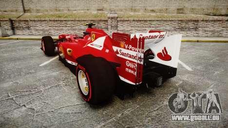Ferrari F138 v2.0 [RIV] Massa TSSD pour GTA 4 Vue arrière de la gauche