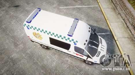 Mercedes-Benz Sprinter ARM Ambulance [ELS] pour GTA 4 est un droit