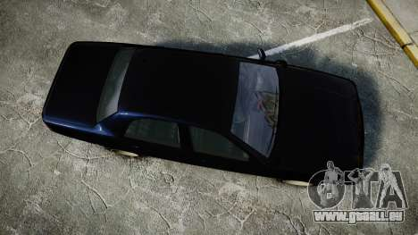 GTA V Vapid Cruiser Police Unmarked [ELS] Slick pour GTA 4 est un droit