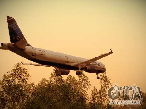 Airbus A321-232 jetBlue Red White and Blue für GTA San Andreas Motor