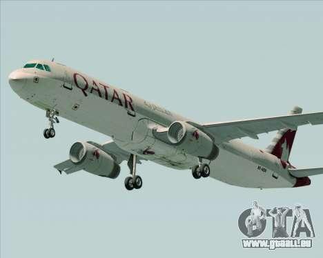 Airbus A321-200 Qatar Airways für GTA San Andreas rechten Ansicht