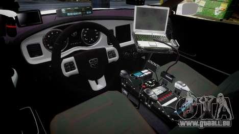 Dodge Charger RT 2013 PS Police [ELS] pour GTA 4 Vue arrière