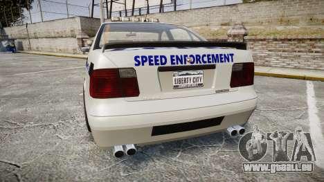 Declasse Merit Police Patrol Speed Enforcement pour GTA 4 Vue arrière de la gauche