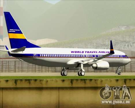 Boeing 737-800 World Travel Airlines (WTA) für GTA San Andreas