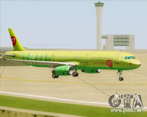 Airbus A321-200 S7 - Siberia Airlines für GTA San Andreas obere Ansicht