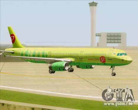 Airbus A321-200 S7 - Siberia Airlines pour GTA San Andreas vue de dessus