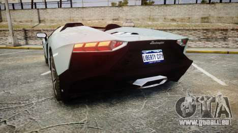 Lamborghini Aventador 50th Anniversary Roadster pour GTA 4 Vue arrière de la gauche