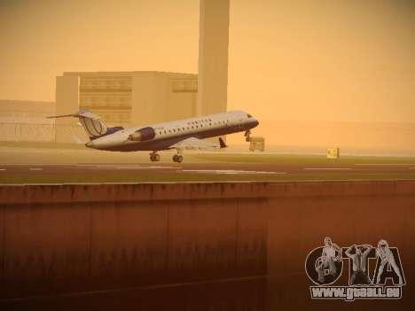 Bombardier CRJ-700 United Express pour GTA San Andreas vue de dessous