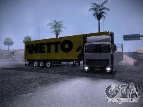 Trailer NETTO pour GTA San Andreas vue de droite