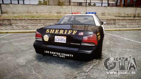 GTA V Vapid Cruiser LSS Black [ELS] für GTA 4 hinten links Ansicht