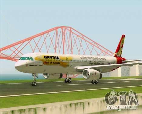 Airbus A321-200 Qantas (Wallabies Livery) pour GTA San Andreas vue intérieure