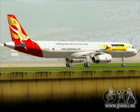 Airbus A321-200 Qantas (Wallabies Livery) für GTA San Andreas