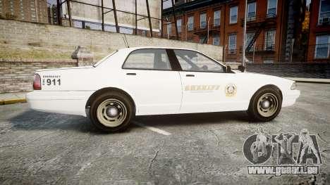 GTA V Vapid Cruiser LSS White [ELS] Slicktop pour GTA 4 est une gauche