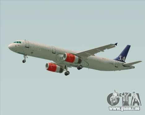 Airbus A321-200 Scandinavian Airlines System für GTA San Andreas rechten Ansicht