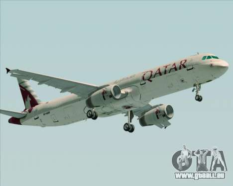 Airbus A321-200 Qatar Airways für GTA San Andreas linke Ansicht