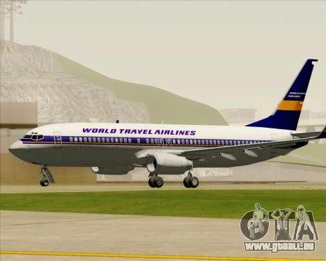 Boeing 737-800 World Travel Airlines (WTA) für GTA San Andreas Seitenansicht