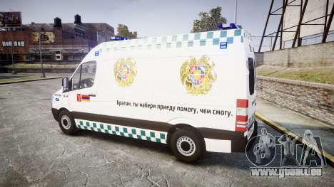 Mercedes-Benz Sprinter ARM Ambulance [ELS] für GTA 4 linke Ansicht