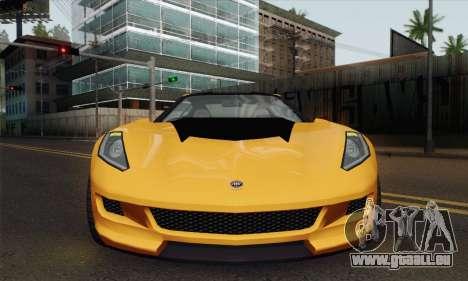 GTA 5 Invetero Coquette (IVF) pour GTA San Andreas sur la vue arrière gauche