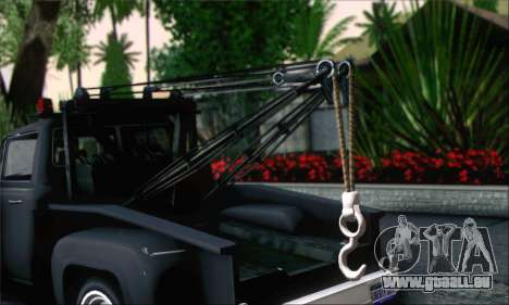 GTA 5 Towtruck für GTA San Andreas zurück linke Ansicht