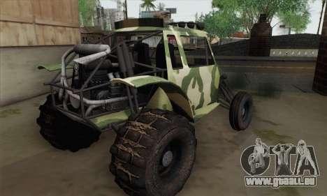 Military Buggy pour GTA San Andreas laissé vue