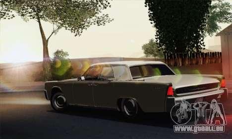 Lincoln Continental Berline (53А) 1962 (HQLM) pour GTA San Andreas laissé vue
