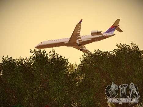 Bombardier CRJ-700 Delta Connection pour GTA San Andreas vue intérieure
