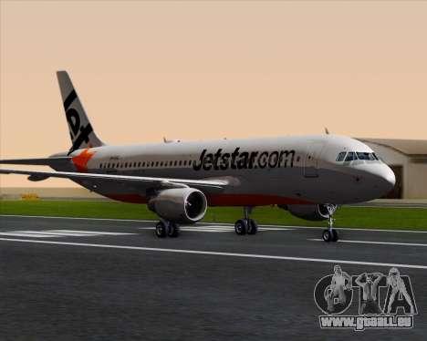 Airbus A320-200 Jetstar Airways pour GTA San Andreas laissé vue