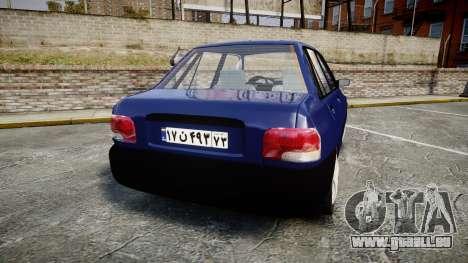 Kia Pride 132 SE pour GTA 4 Vue arrière de la gauche