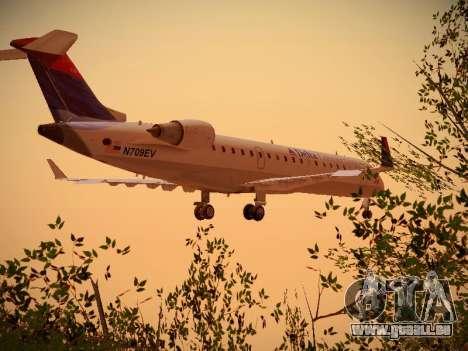 Bombardier CRJ-700 Delta Connection für GTA San Andreas Rückansicht