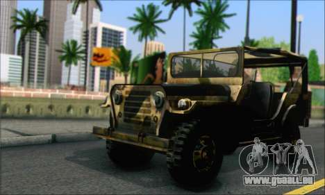 Iguana From Mercenaries 2 World in Flames pour GTA San Andreas sur la vue arrière gauche